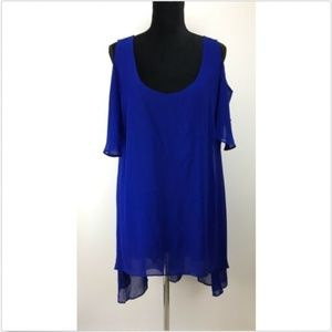 City Chic Cold Shoulder Dress Women's Size S Small